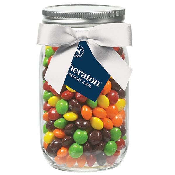 16 oz Glass Mason Jar With Skittles®
