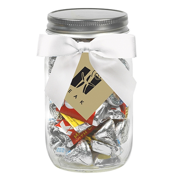 16 oz Mason Jars w/ Grosgrain Ribbon - Hershey's® Everyday