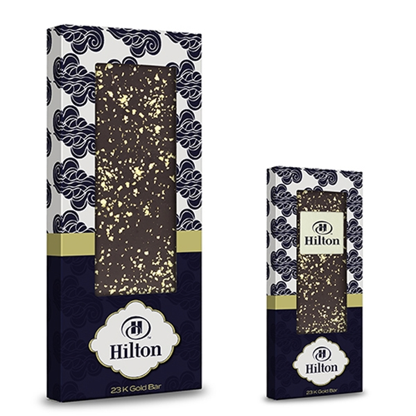 Belgian Chocolate Bar With 23K Gold Flakes - 3.5 oz