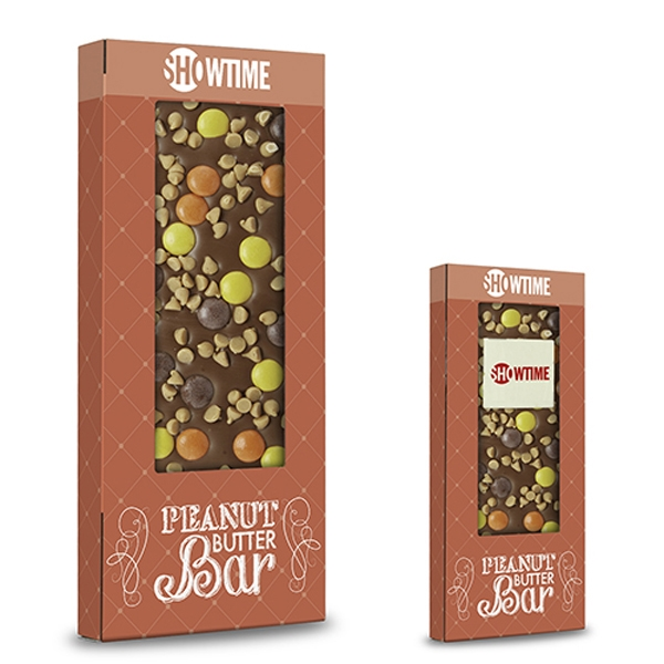 Belgian Chocolate Bar With Peanut Butter Chips- 3.5 oz