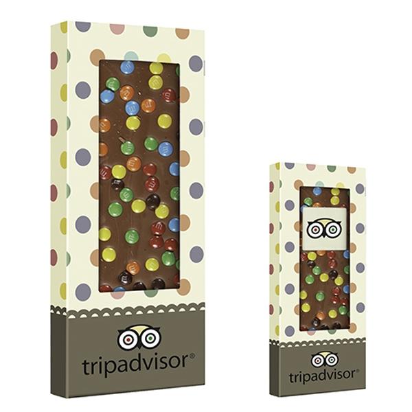 Belgian Chocolate Bar With Mini M&M's - 3.5 oz