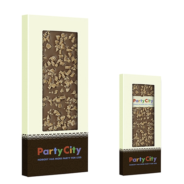 Belgian Chocolate Bar With Crushed Toffee - 3.5 oz