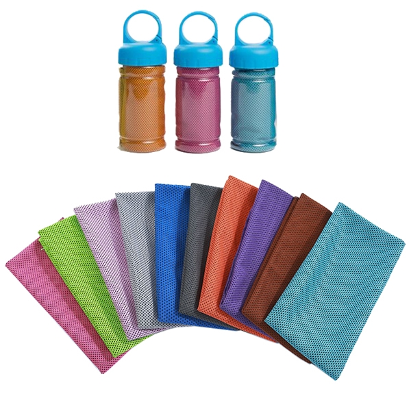 Instant Cooling Towel With Bottle