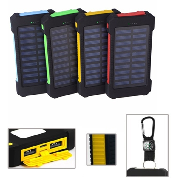 Dual USB Solar Power Bank
