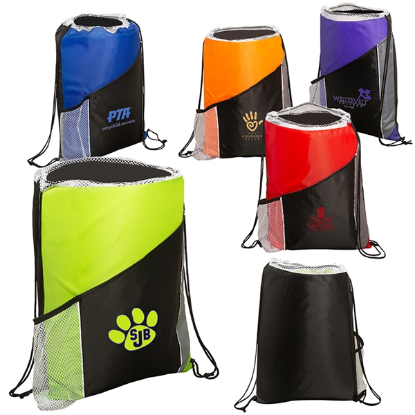 Sprint Angled Drawstring Sports Pack with Pockets