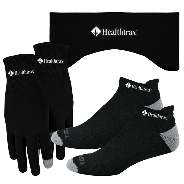 Performance Runners Text Gloves-Earband-Socks-Combo