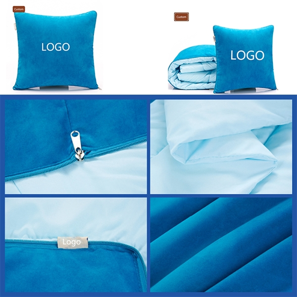 Throw Pillow  2-in-1 Pillow and Blanket