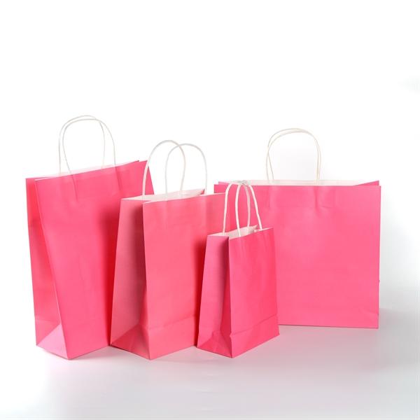 White Kraft Paper Shopper Bag - 12 1/2