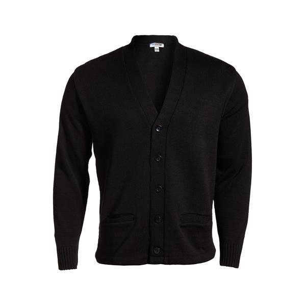 V Neck Heavyweight Acrylic Button Cardigan