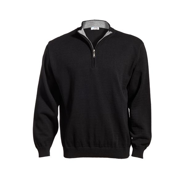 Quarter-Zip Acrylic Sweater