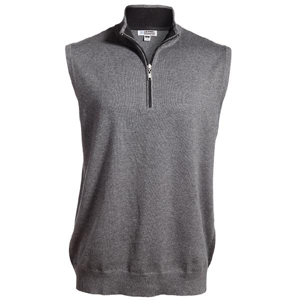 Quarter Zip Fine Gauge Sweater Vest