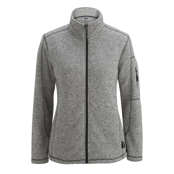Ladies' Sweater Knit Fleece Jacket