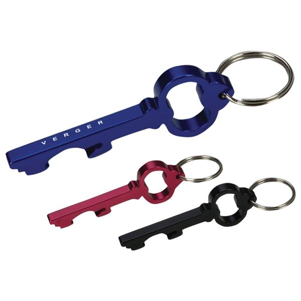 Key Shape Bottle Opener Key Ring