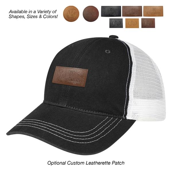 Contrast Stitch Mesh Back Cap