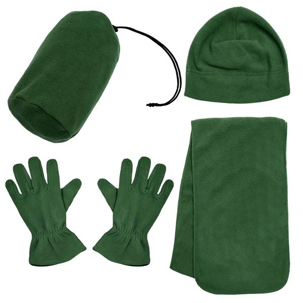 Winter Unisex Fashion Warm Fleece Scarf Beanie Hat Gloves