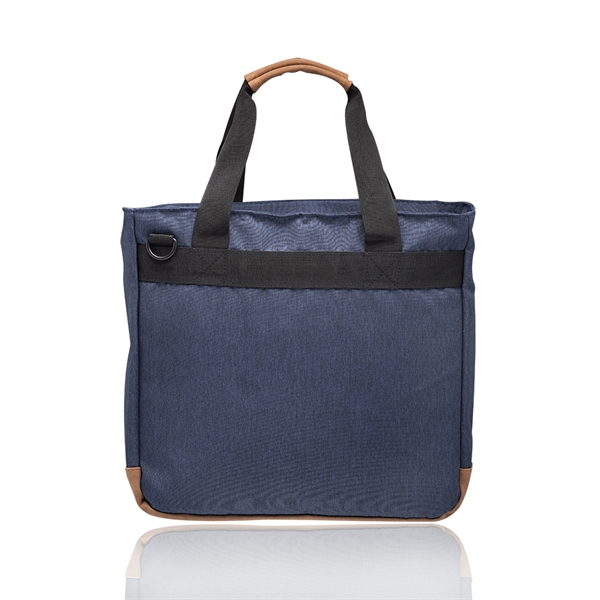 Lyon Two-Tone Polyester Messenger Bags