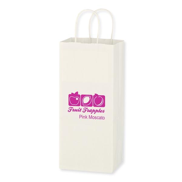 "Kraft Paper White Wine Bag - 5.25"" x 13"""