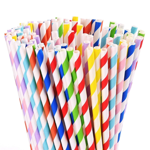 Custom Eco-friendly Degradable Paper Straws
