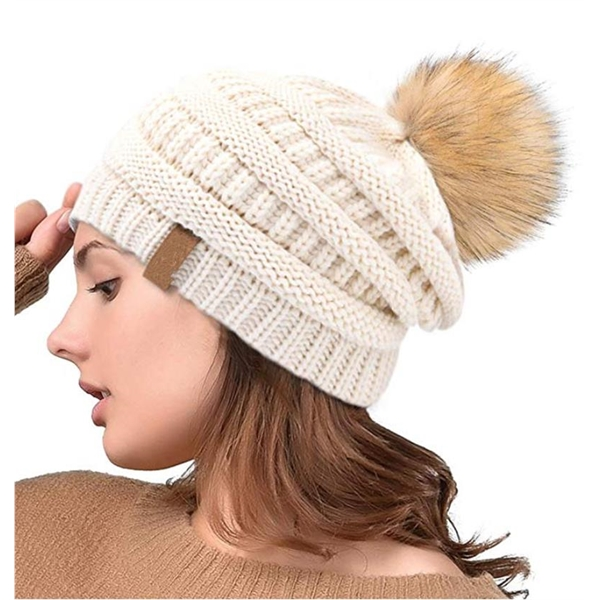 Winter Knit Cap Cuff Beanie