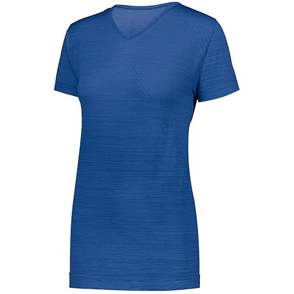 Ladies' Striated Shirt Short Sleeve