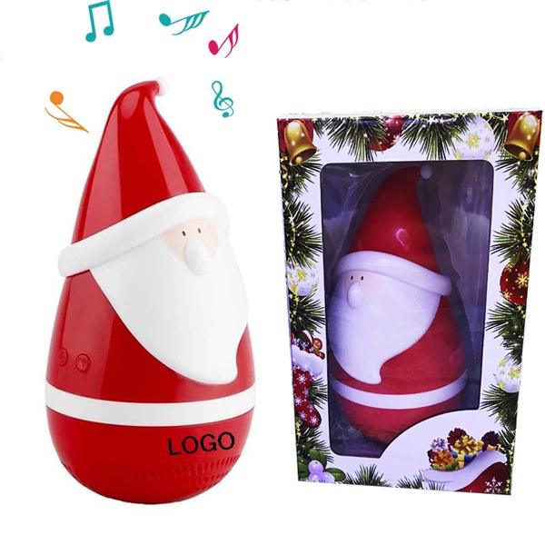 Santa Tumbler USB Speaker Christmas Decoration