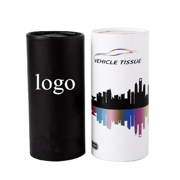 Car Tissue Holder With Disposable Tissue Paper