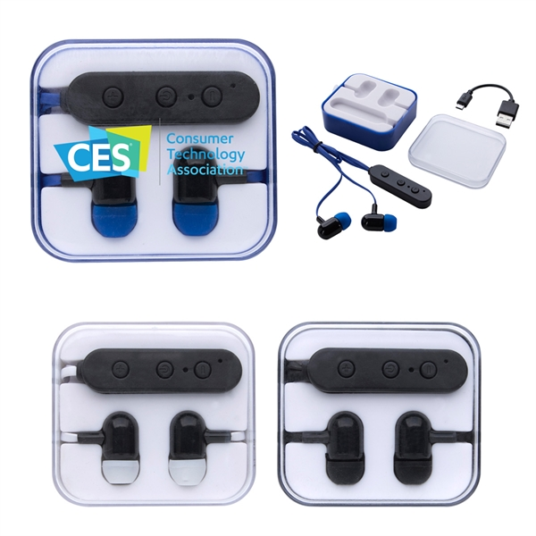 Wireless Earbuds In Square Case