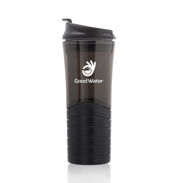 16 oz. Dunes Plastic Travel Mug