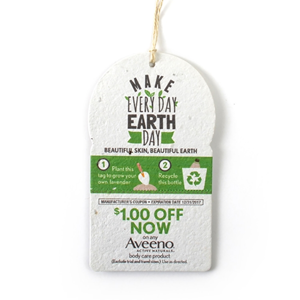 Round Top Seed Paper Product Tag