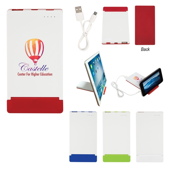 UL Listed Power Bank With Flip Up Phone Stand