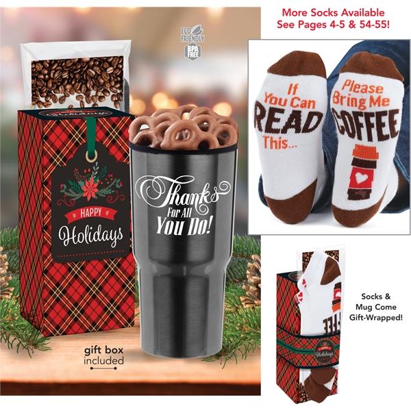 Tumbler with Treats & Socks Gift Set