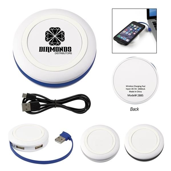 Power-Up Wireless Charging Pad & USB Hub