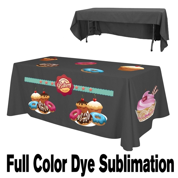 8 Ft. Economy Table Throw - 3-Sided Full Color Dye Sub
