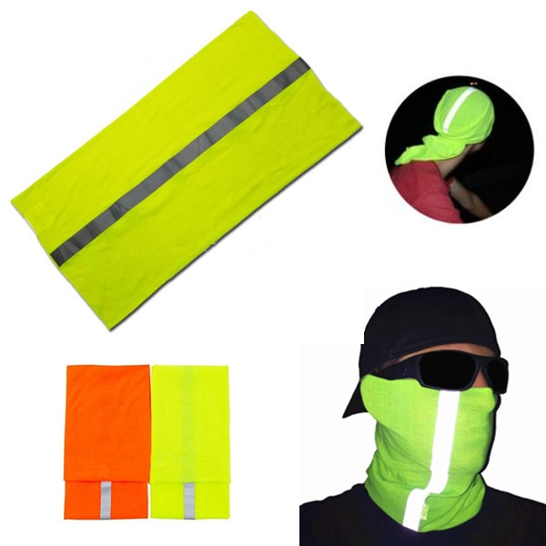High Visibility Reflective Fluorescent Color Head Scarf