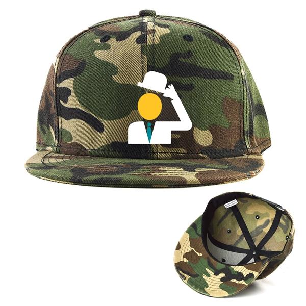 Camouflage Cotton Twill Flat Visor Hat