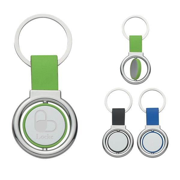 Circular Metal Spinner Key Tag