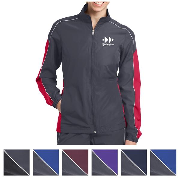 Sport-Tek Ladies' Piped Colorblock Wind Jacket