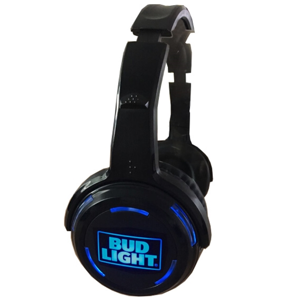 Only headphones with light up illuminated LED logo