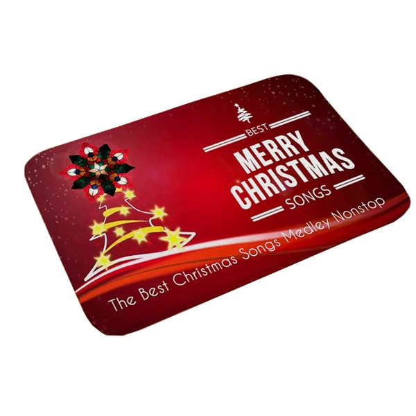 Rectangular Christmas Theme Doormat