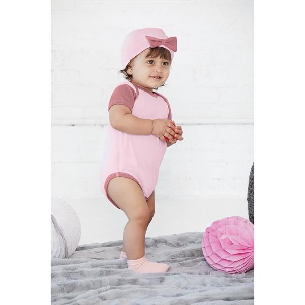Infant Baby Rib Bow Cap