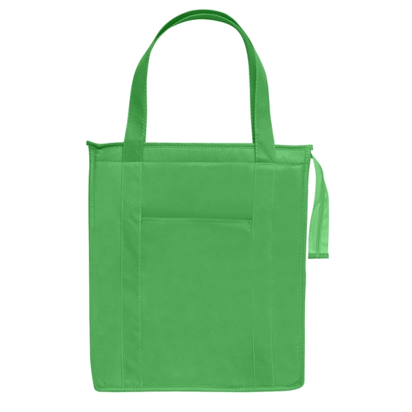 Non-Woven Insulated Shopper Tote Bag - Non-Woven Insulated Shopper Tote Bag.  Made Of 80 Gram Non-Woven, Coated Water-Resistant Polypropylene.  Recyclable.  Reusable.