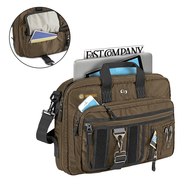 Solo® Zone Briefcase Backpack Hybrid