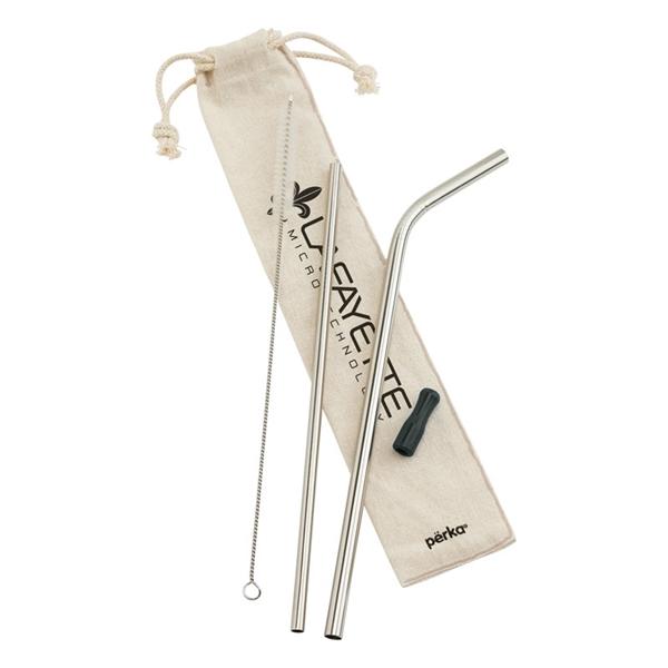 Perka® Avila 5-Piece Stainless Steel Straw Set