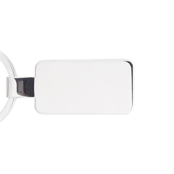 Reflection Flat Metal Keychain