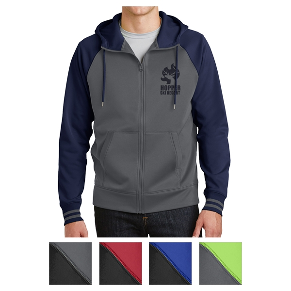 Sport-Tek Sport-Wick Varsity Fleece Full-Zip Hooded Jacket