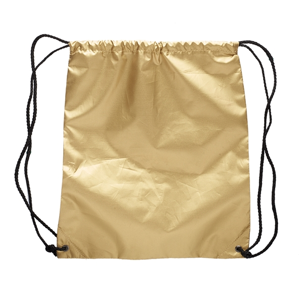 Shiny Classic Polyester Drawstring Backpack