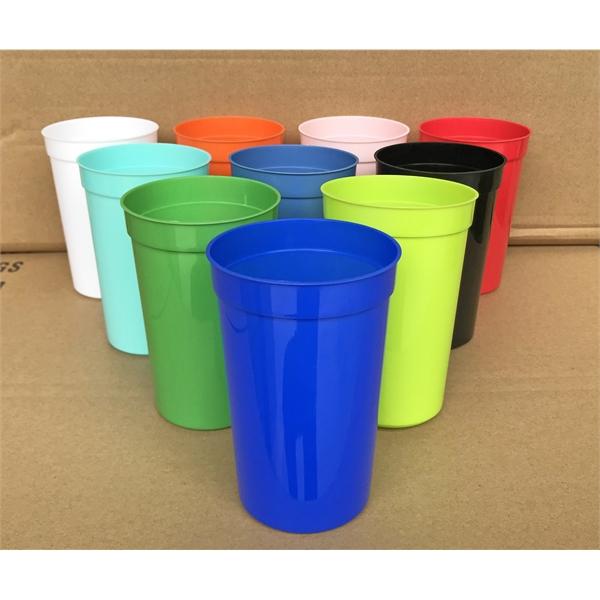 16 oz BPA-Free Reusable Plastic Stadium Cup