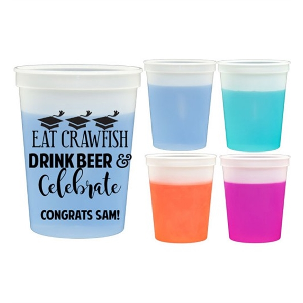 16 Oz Color Changing Mood Stadium Cup