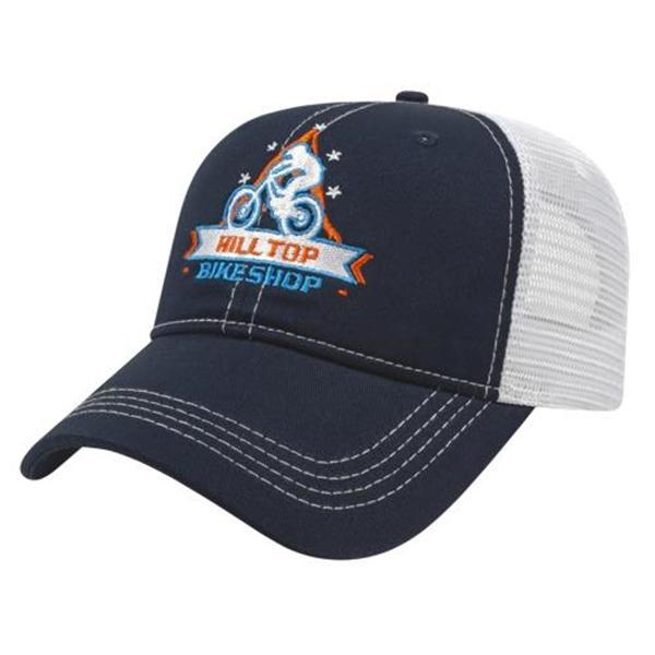 Contrast Stitching & Mesh Back Cap