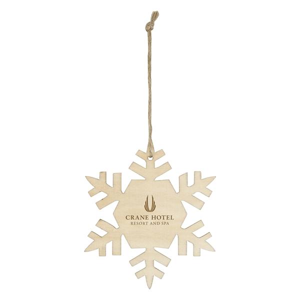 Wood Ornament - Snowflake